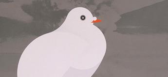 田中一光「一羽の白い鳩」