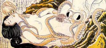 葛飾北斎「蛸と海女」