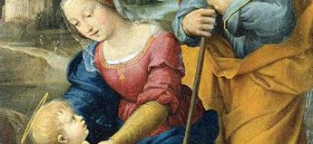 ラファエロ・サンティ「聖家族と子羊」